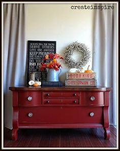 This vintage thrift store dresser got a fresh look with Holiday Red by General Finishes Paint Company. Description from hometalk.com. I searched for this on bing.com/images