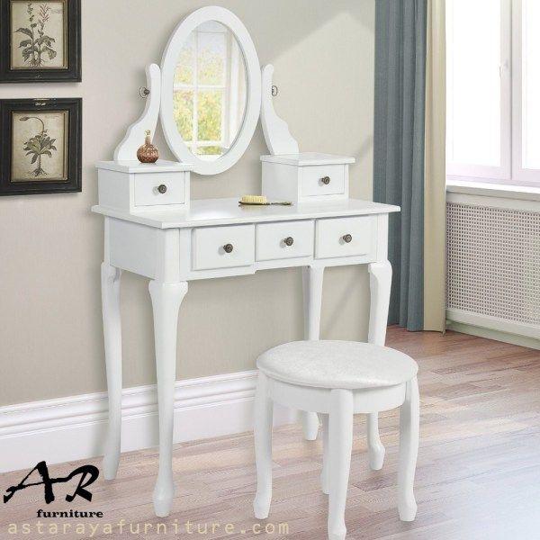 Meja Rias Mini Oval Furniture Terbaru