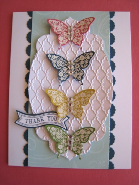 Papillion In-Color Stampin' Up! card