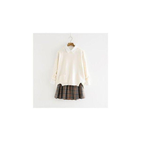 Plaid Pleated Skirt ($17) ❤ liked on Polyvore featuring skirts, women, cotton pleated skirt, pleated tartan skirt, knee length pleated skirt, plaid pleated skirt and tartan skirt