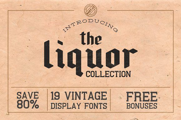 The Liquor Collection (Font Bundle) by BART.Co Design on @creativemarket