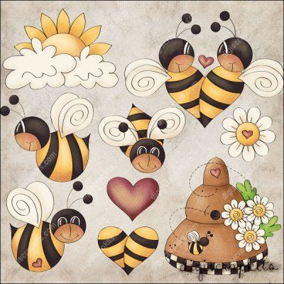 Bee Boppin' 1 Clip Art Set