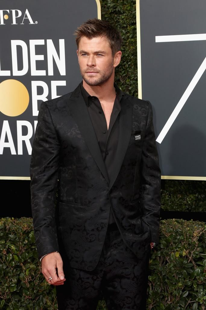 Chris Hemsworth at the Golden Globes.