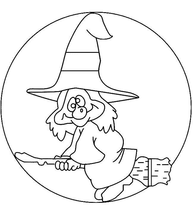 Bruja loca dibujalia dibujos para colorear eventos - Dibujos de halloween faciles ...