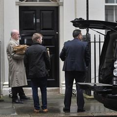 Ministers arrive at 10 Downing Street ahead of the Chancellor of the Exchequer's Budget