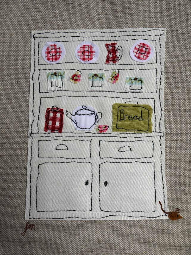 Dresser - freestyle machine embroidery picture £20.00