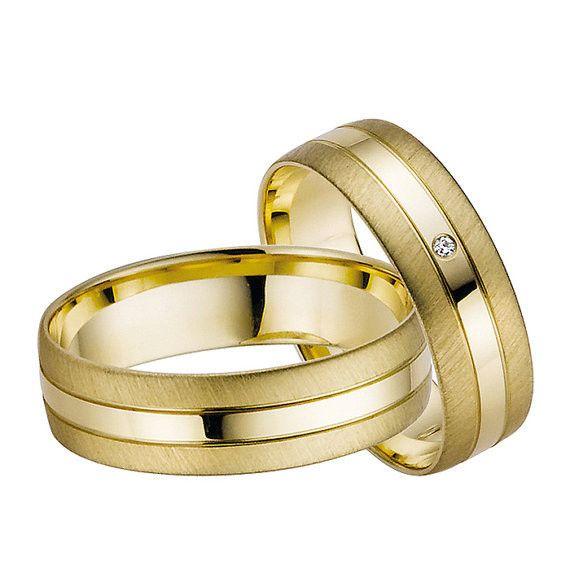 Yellow gold Wedding rings bridal Sets