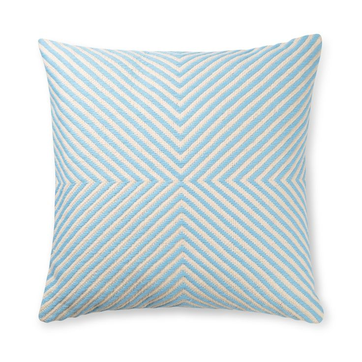 Create a chic-chill out zone that is calm central and let X mark the comfiest spot in your home with our Light Blue X Woven Stripe Cushion