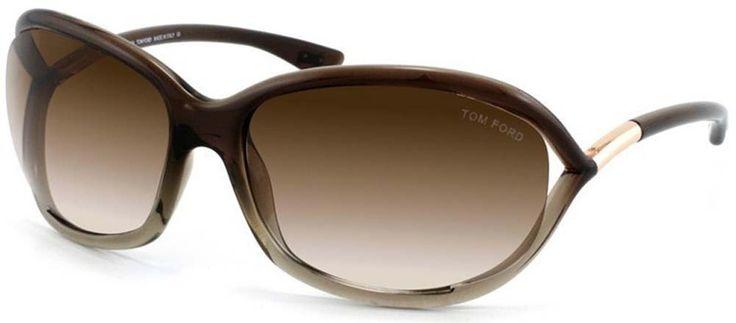 Tom Ford JENNIFER FT0008 Sunglasses TF8 Color 38F Brown Gradient TF 08. Tom Ford Sunglasses FT0008 Color 38F. Brown Frame, Brown Gradient Lenses. 100% UV Protection. 61mm large frame. Includes letter of authenticity.