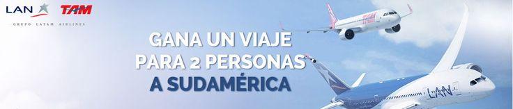 ¿Quieres volar a Sudamérica GRATIS con un acompañante? Participa en este sorteo gratuito que realiza LATAM Airline Group con el que podrás ganar 2 billetes de avión de ida y vuelta a cualquier destino que desees que cubran sus líneas aéreas LAN y TAM.  Promoción de sorteo válida para España hasta 31/12/2014.  Más información aquí: http://www.baratuni.es/2014/09/gana-viaje-gratis-sudamerica.html  #sorteosgratis #viajargratis #ganaunviaje