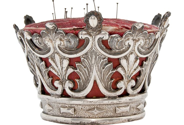 Silver French Crown Pincushion - One Kings Lane - Vintage & Market Finds - Decorative Accessories