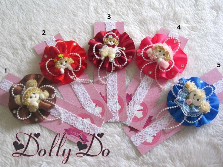 Baby Headband with Cute Dolly, in colours