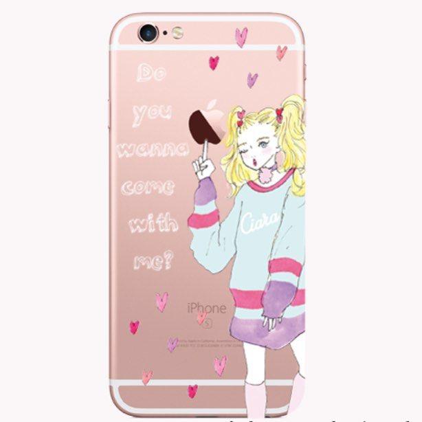 新デザイン🎈🎈🎈  指先にアップルマークをのっけてます💓  ¥2,970-  本日日曜日限定300円OFFキャンペーン開催中なので、サイトチェックしてみて下さい💕  #iPhoneケース #スマホケース#イラスト#クリアケース#iphone6s #iphone6plus #iphone5