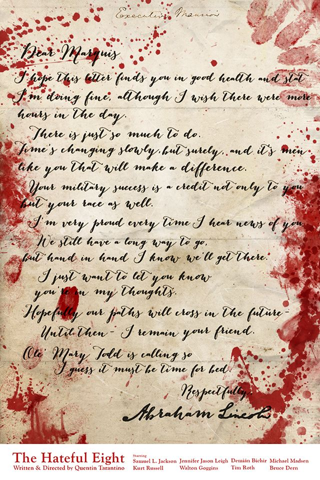 The Abraham Lincoln letter - The Hateful Eight (2015) - #Tarantino