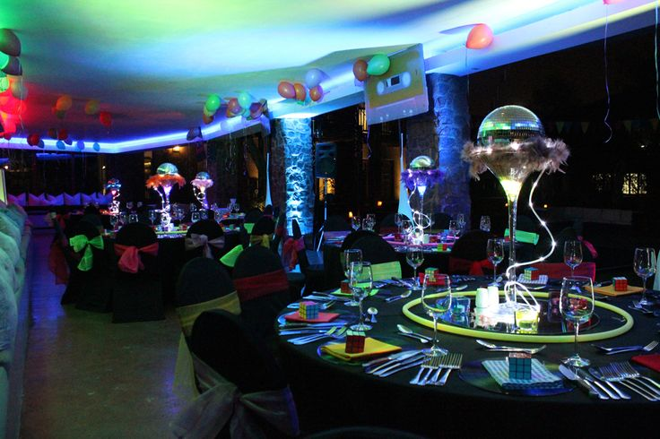 Neon Themed Evening at The Blades Hotel in Pretoria, South Africa