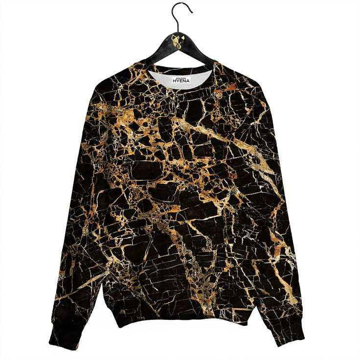 Gold Marble Sweater Awesome Jumper by Golden Hyena #goldenhyena