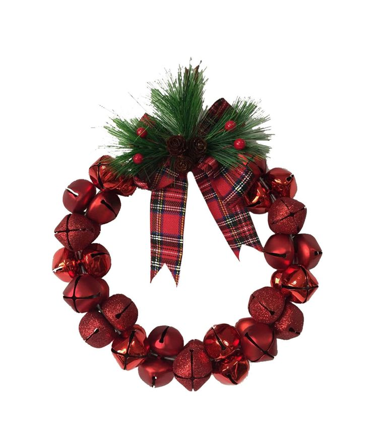 Makers Holiday Wreath-Red Jingle Bell makes a classic addition to your Christmas decor at home. This holiday wreath is beautifully crafted with a combination of sparkling and glossy red jingle bells.