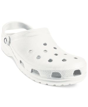 Comfort takes center stage with the lightweight and breathable classic Cayman clogs from Crocs. Not only are they odor-resistant, they're easy to clean and quick to dry, too! | Imported | Size shown a