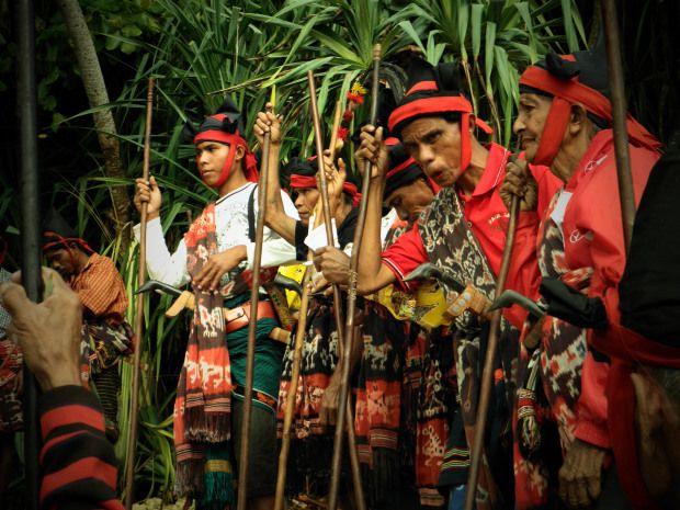 Pasola Festival celebrating rice planting season in Sumba island, Indonesia