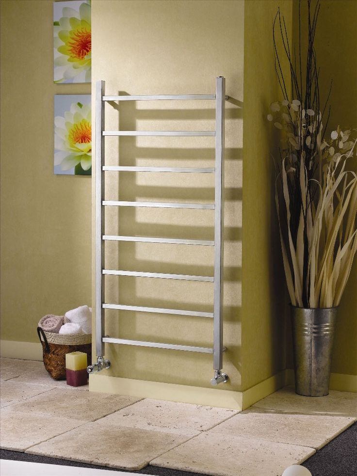 Apollo Genova Straight stainless steel towel warmers