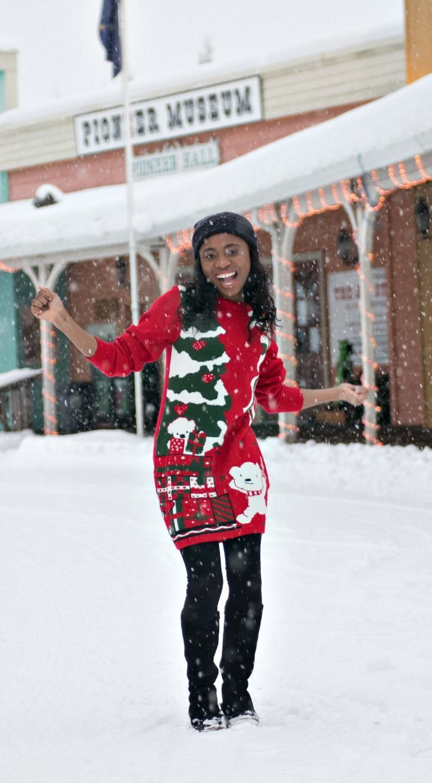 Best 25  Christmas sweater dress ideas on Pinterest | Hooded ...
