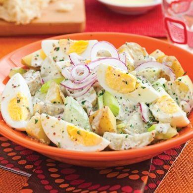 Salade de pommes de terre aux oeufs - Soupers de semaine - Recettes 5-15 - Recettes express 5/15 - Pratico Pratique