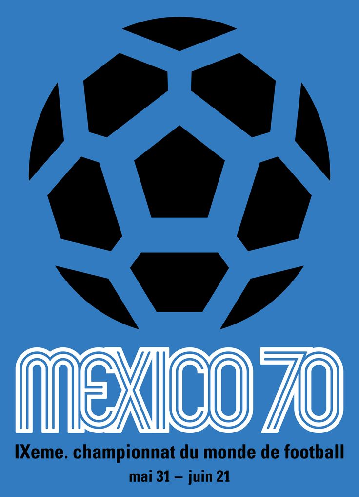 Poster FIFA World Cup 1970  _ Lance Wyman
