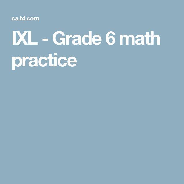 IXL - Grade 6 math practice