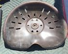 ANTIQUE FORDSON TRACTOR SEAT PRESSED STEEL TIN EMBOSSED No damage Old collection