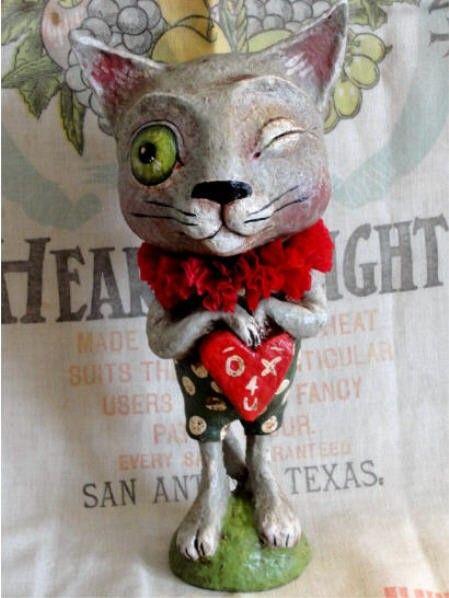 Valentine Kitty by hophopjingleboo on Etsy