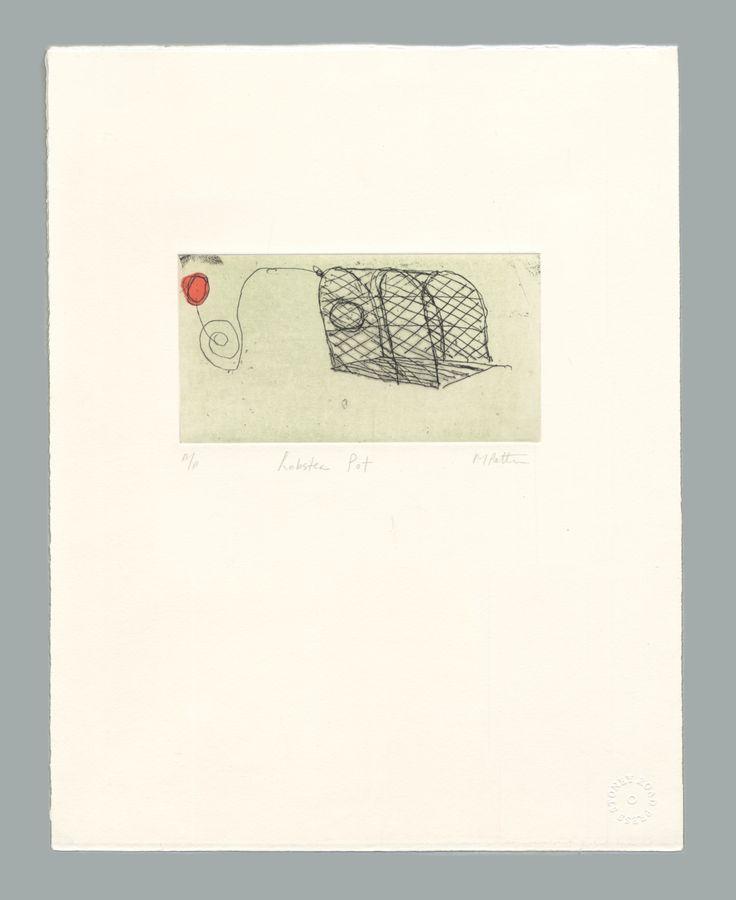 'Lobster Pot' by Michael Patten,  2016. Intaglio print on Zerkall 350 gsm paper. Sheet size 33 x 42.5cm