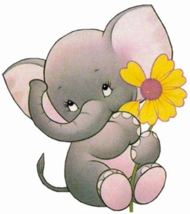 Baby elephant   Baby elephant drawing, Elephant clip art ...