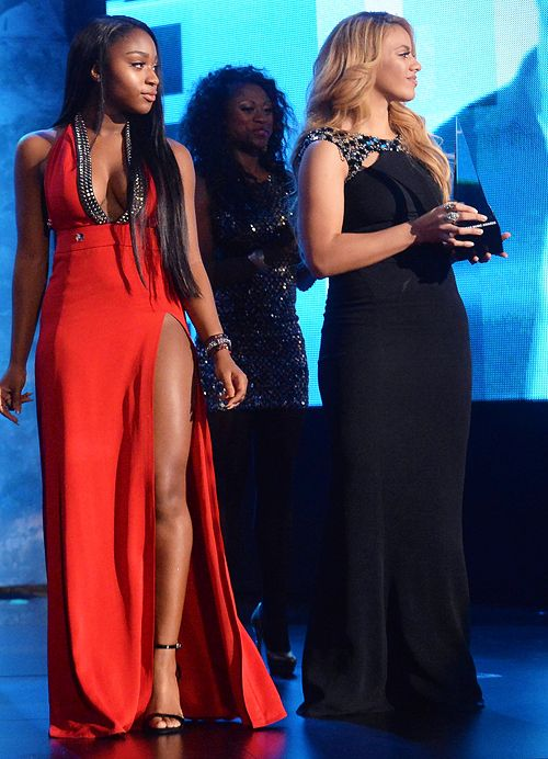 Fifth Harmony attend the 2015 American Music Awards at LA Live on November 22, 2015 in Los Angeles, California.
