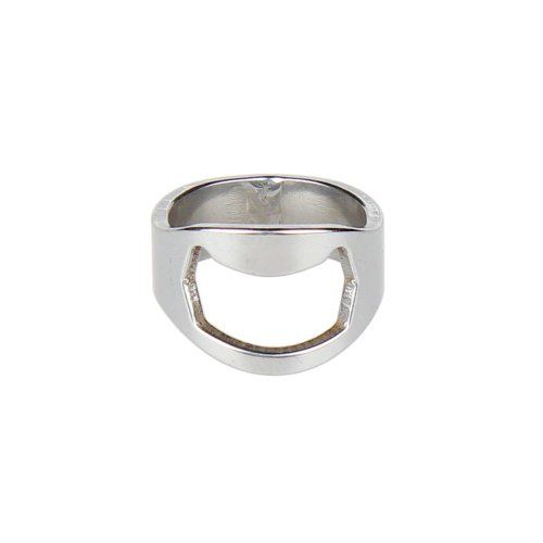 From 0.98 Accmart(tm) Handy Stainless Steel Beer Drink Bottle Opener Ring (pack Of 2)
