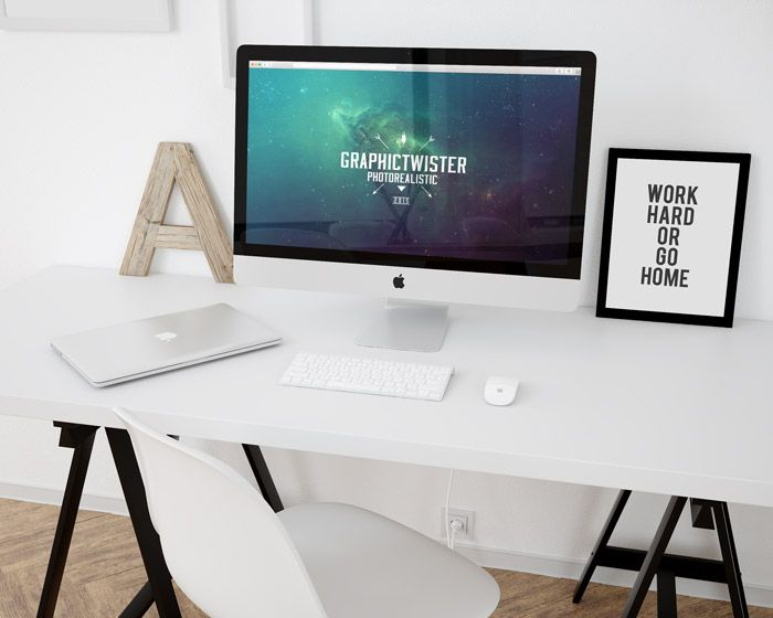 Free Workspace Mockup Template (92 MB)    Graphic Twister