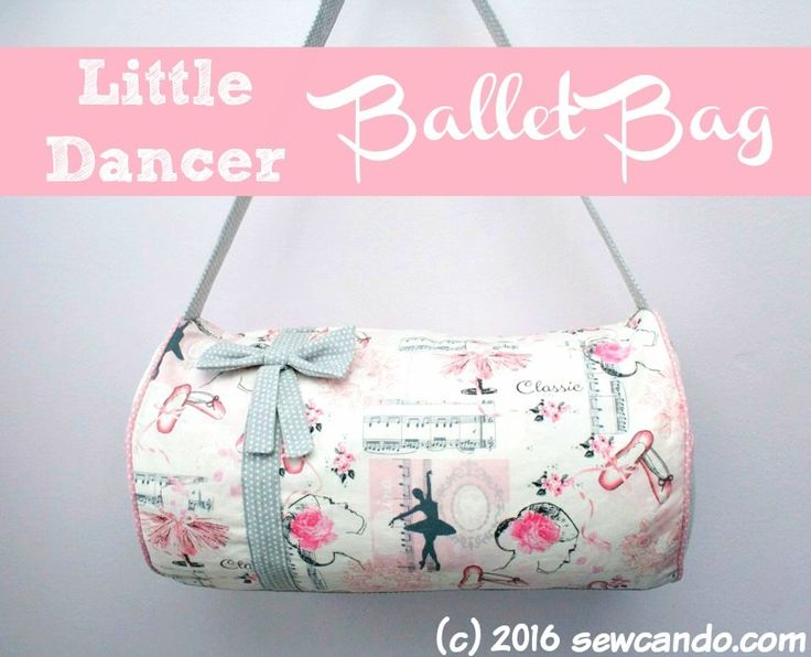 Sew Can Do: Tutorial Time: The Little Dancer Ballet Bag + Fabric Giveaway!