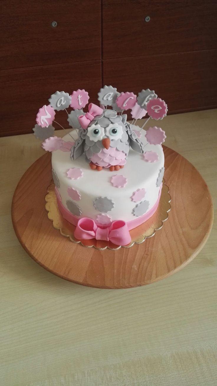Torcik z sówką / cake with owl