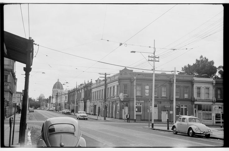 Corner of Gertrude and Brunswick Streets, Fitzroy, mid 1960.