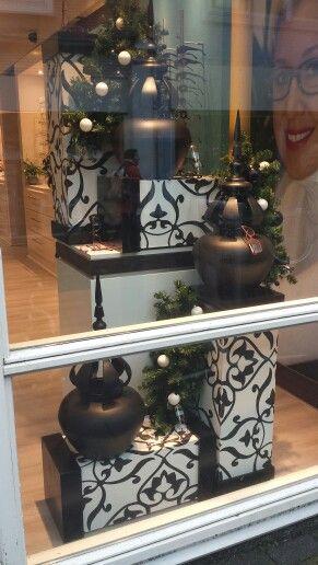 Kerstetalage opticien geëtaleerd door Monica etalage en winkelpresentatie.