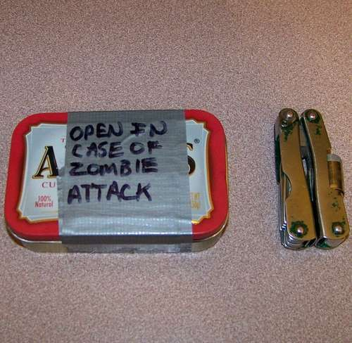 DIY pocket sized zombie survival kit - see the link!