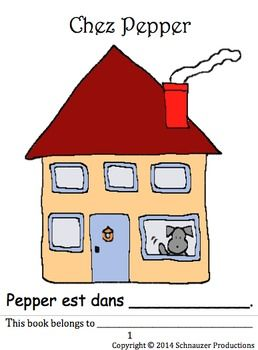 In this booklet, interactive PowerPoint presentation, worksheet and pictures, Pepper introduces French vocabulary for rooms in a house. She also introduces a simple and logical sentence for each room to help students learn an associated verb. For example, Pepper is eating in the dining room.