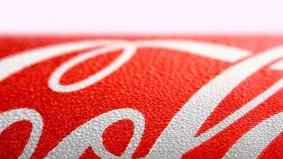 Close up of a Coca-Cola can