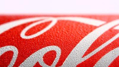 Close up of a Coca-Cola can