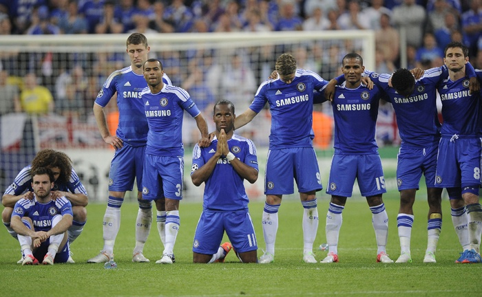 Chelsea begin the penalties on the wrong foot, Champions League final in Munich, by Tom Jenkins