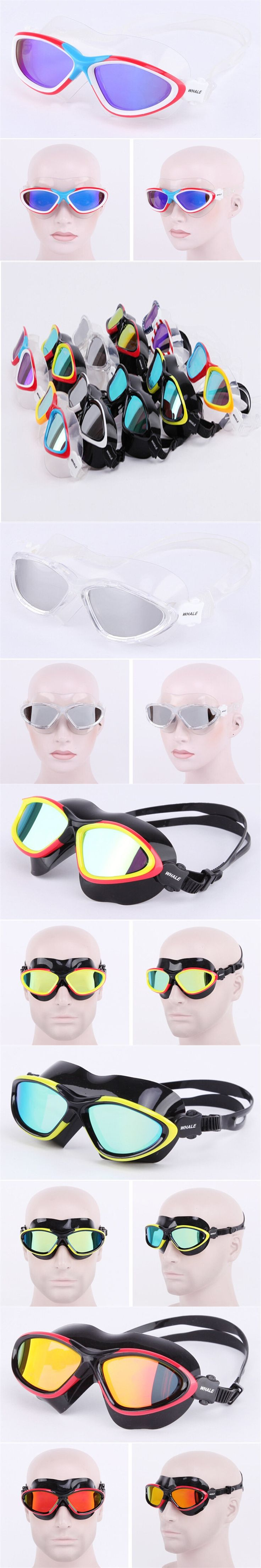High-definition waterproof Swimming Eyewear anti-fog competition swimming glasses silicone sealing ring polycarbonat  lens