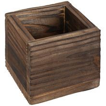 Wooden Square Container By Ashland®
