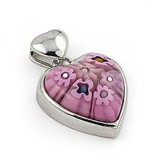 163 best murano and venitian glass images on pinterest crystals pink murano glass millefiori small heart pendant west coast jewelry 2795 save 44 mozeypictures Images