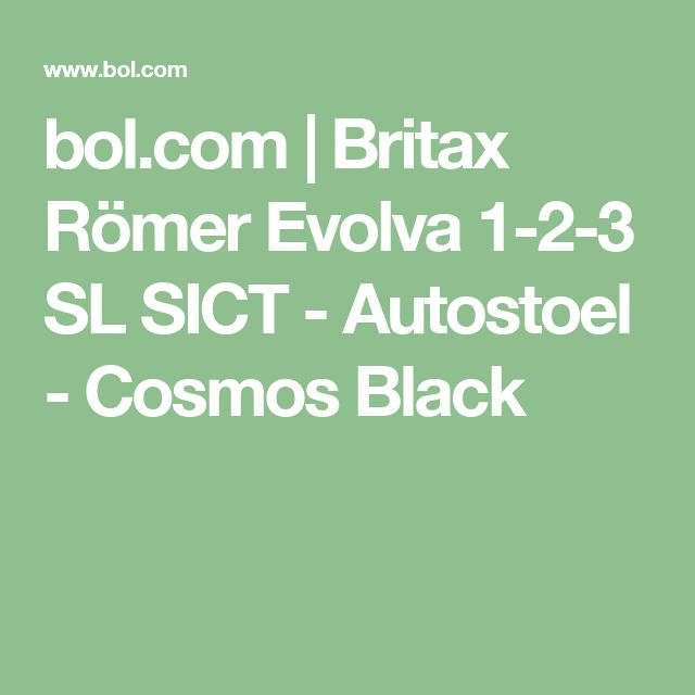 bol.com | Britax Römer Evolva 1-2-3 SL SICT - Autostoel - Cosmos Black