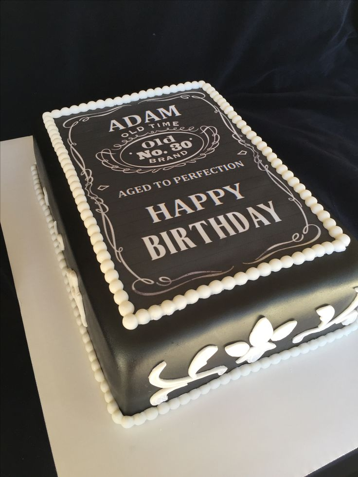 Jack Daniels inspired birthday cake