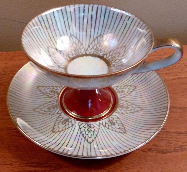 ROYAL HALSEY VERY fine china GOLD stripe blue CUP SAUCER
